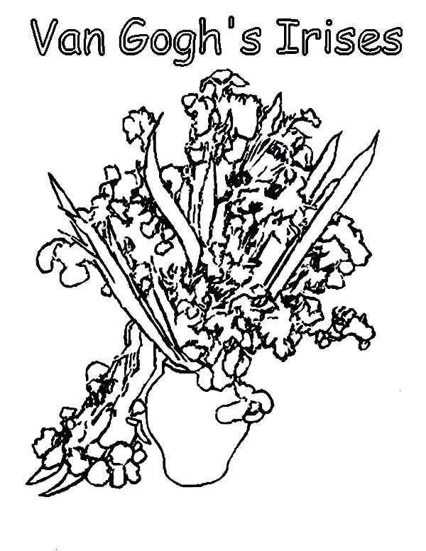 600x776 Van Gogh Coloring Book Plus Sunflower Coloring Page Van 28