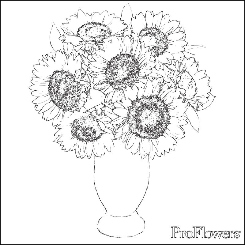 Van Gogh Sunflowers Drawing at GetDrawings.com | Free for personal ...