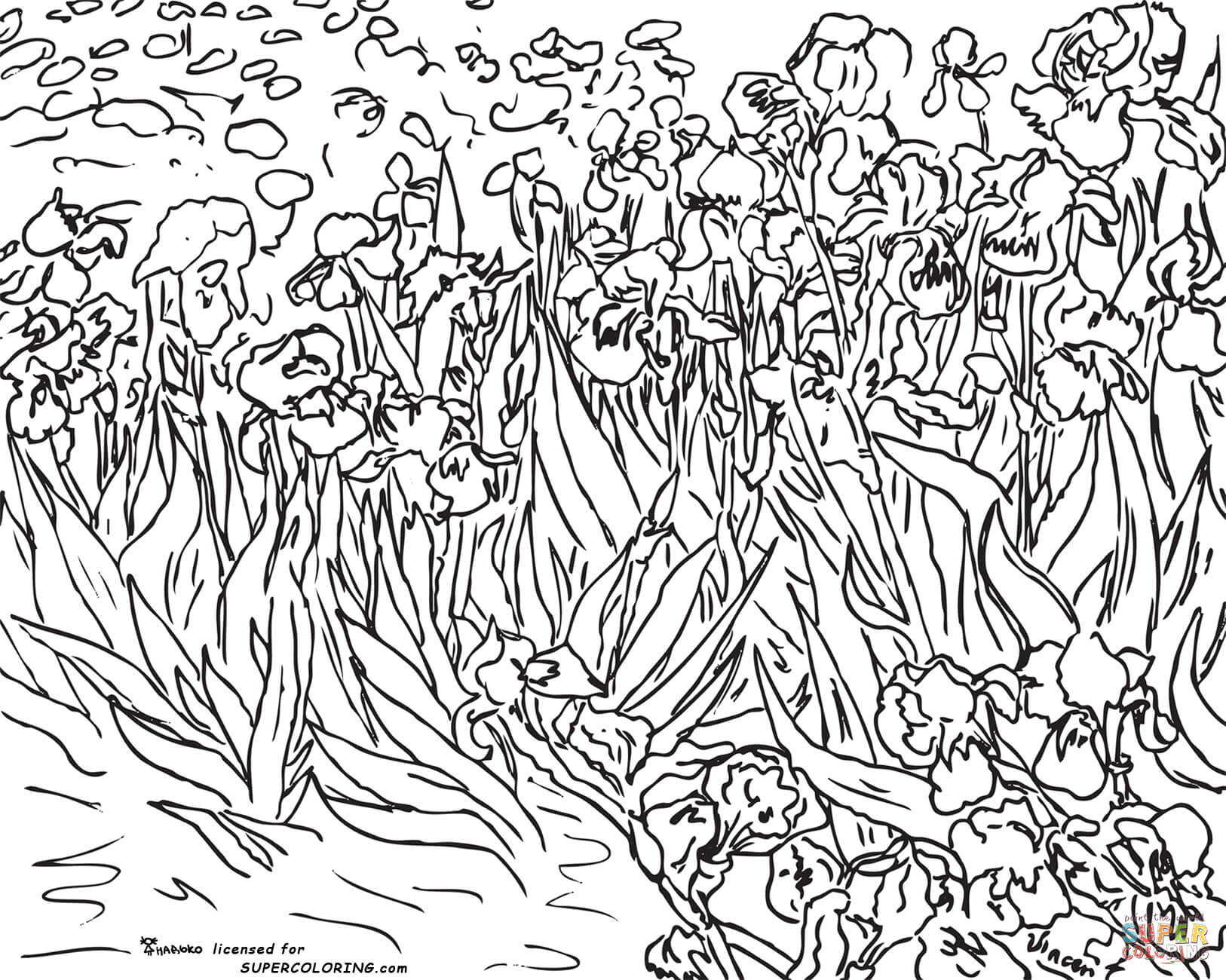 1626x1300 Vincent Van Gogh Coloring Pages Free Coloring Pages