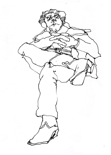 357x500 Vancouver, Can. Bus Station Drawing People In Public