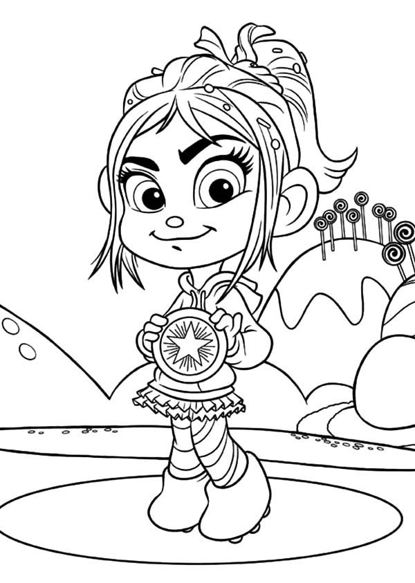 600x843 Wreck It Ralph Vanellope Coloring Pages