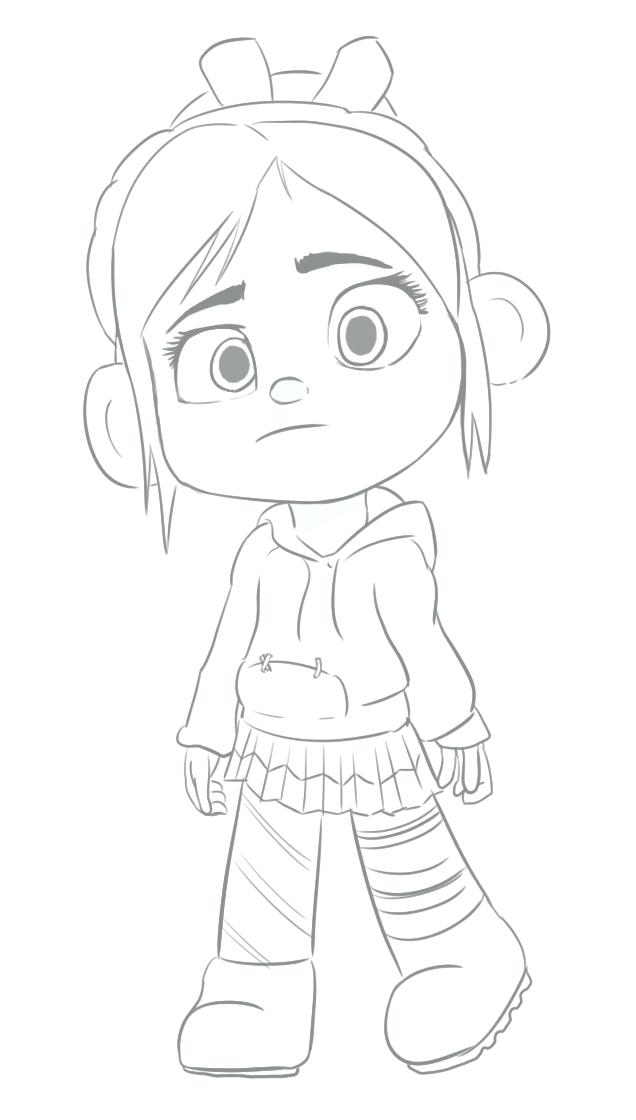 636x1120 Wreck It Ralph Vanellope Coloring Pages Wreck It Coloring Pages