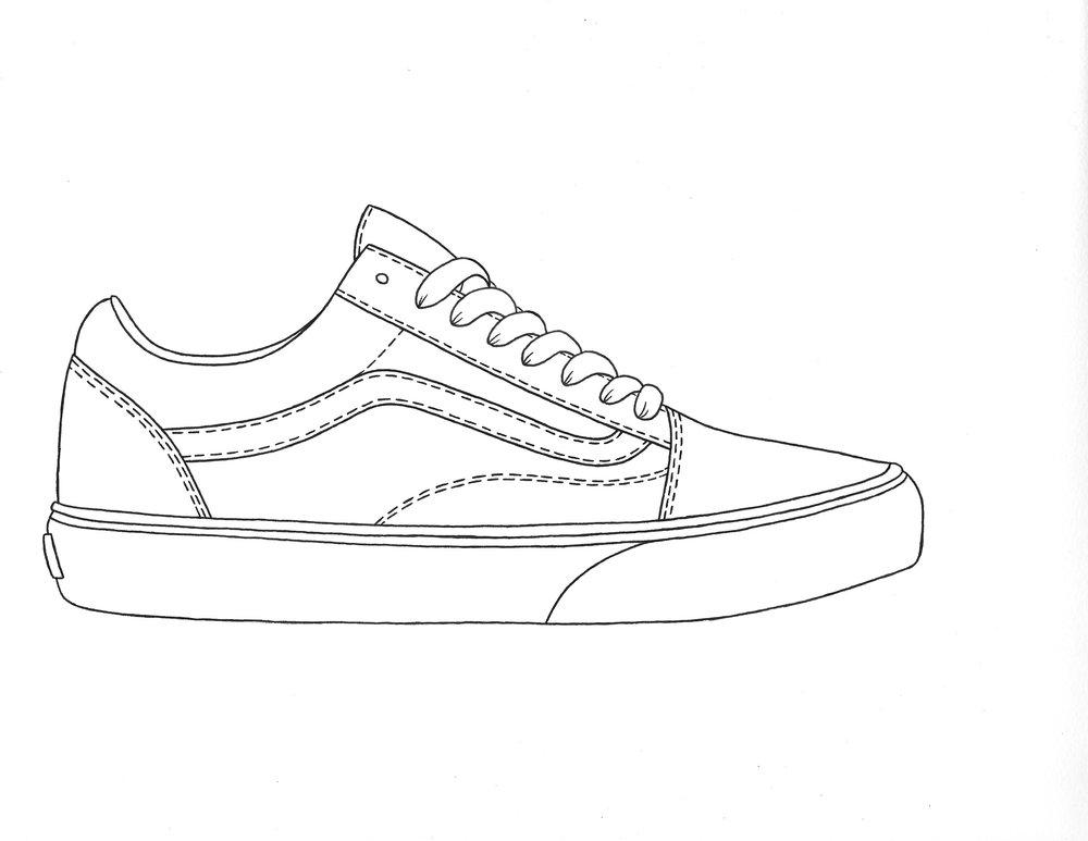 vans drawing