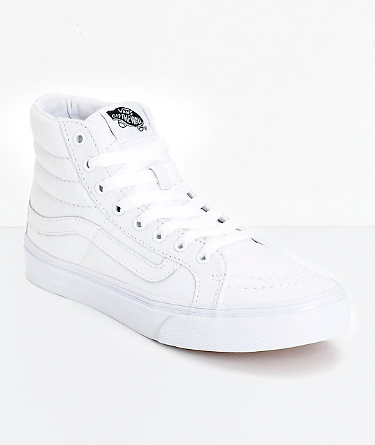 ecb901282a5409 540x640 Vans Sk8 Hi Slim True White Skate Shoes Zumiez