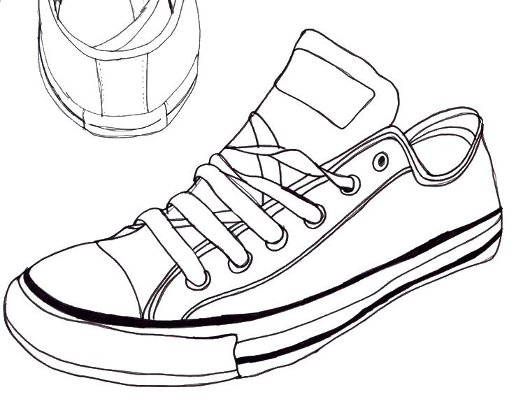 帆布鞋 简笔画 手绘 线稿 鞋 鞋子 738_581