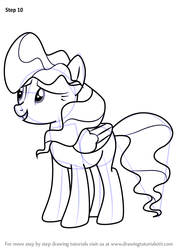 600x846 Learn How To Draw Vapor Trail From My Little Pony