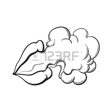 450x450 Smoke Coming Out Of Fleshless Skull And Vape, Vaping Device