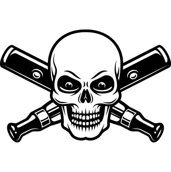 570x573 Vaporizer Logo 12 Vape Vapor Crossed Skull Smoking Smoke