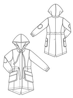236x314 Summer Parka Technical Drawing Summer, Sketches