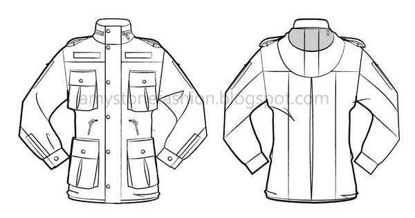 600x315 Amy Stone Fashion Flat Sketches Flat Sketch For Military Field
