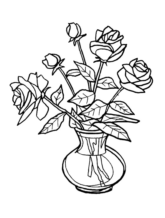 560x736 Free Drawing Of Flowers In A Vase Clipart Best Flower Vase