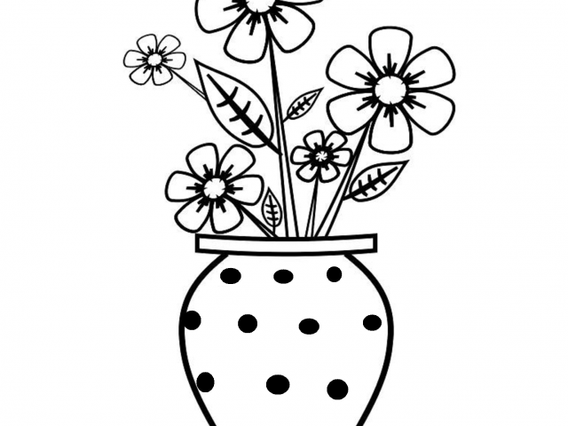 640x480 Simple Flower Vase Sketches Pictures Flower Vase Drawing
