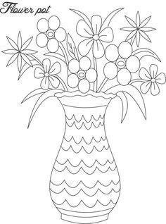 236x318 Line Drawings Of Flowers In Vases
