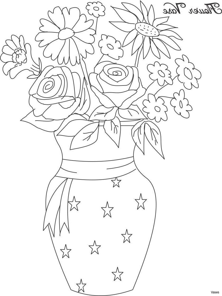 843x1125 Flower Vase With Flowers Drawings For Kids Pot Drawing Flowerh