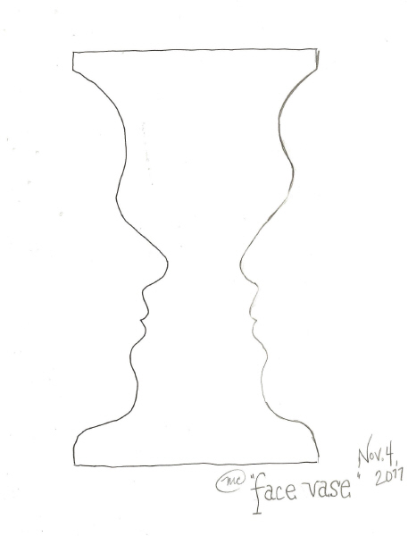 Vase Face Drawing At Getdrawings Free For Personal Use Vase