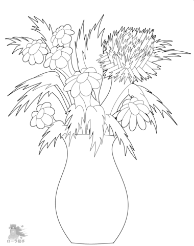 380x480 Flowers In Vase Coloring Page Free Printable Coloring Pages