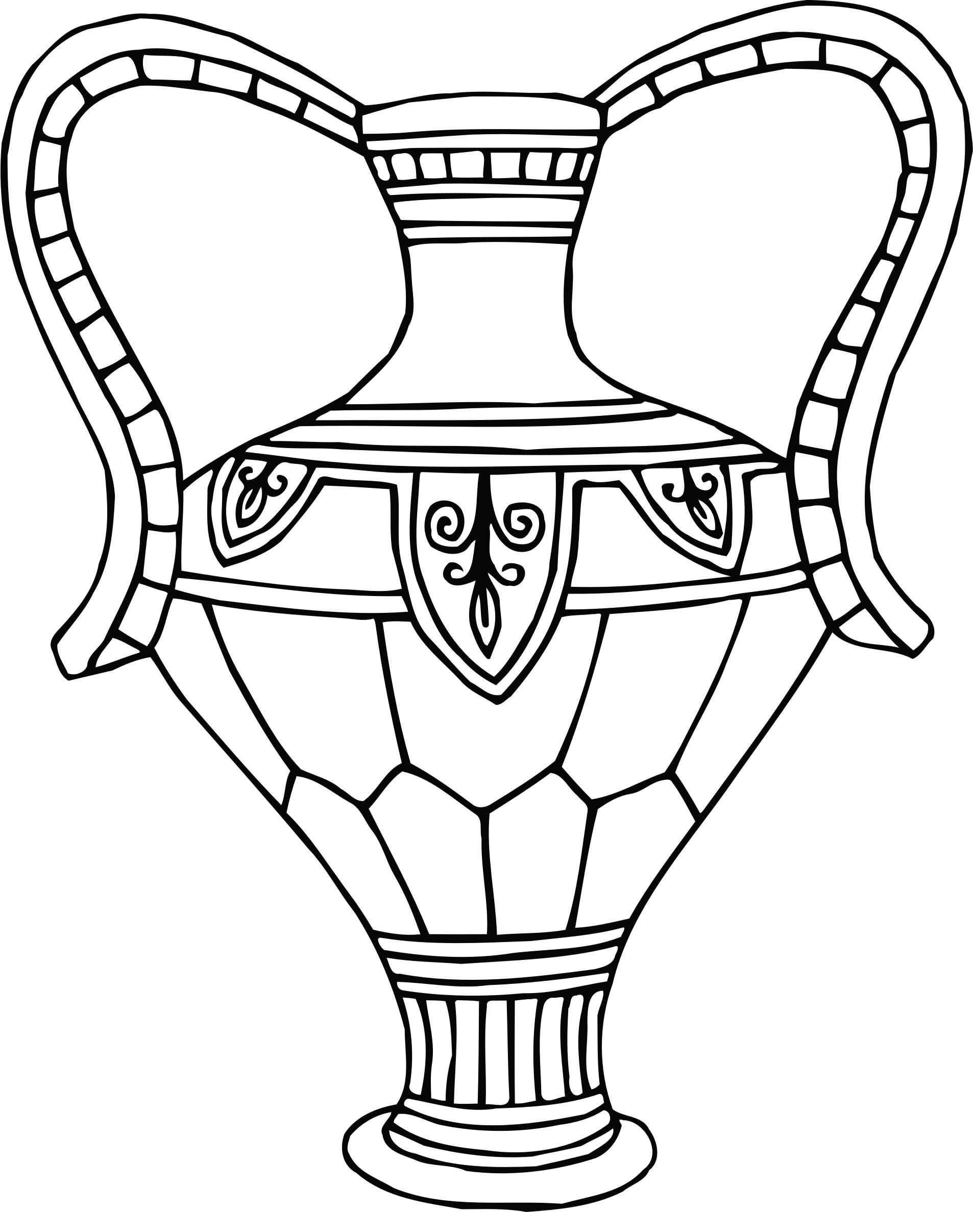 1906x2375 Vase 12 Line Drawing Icons Png
