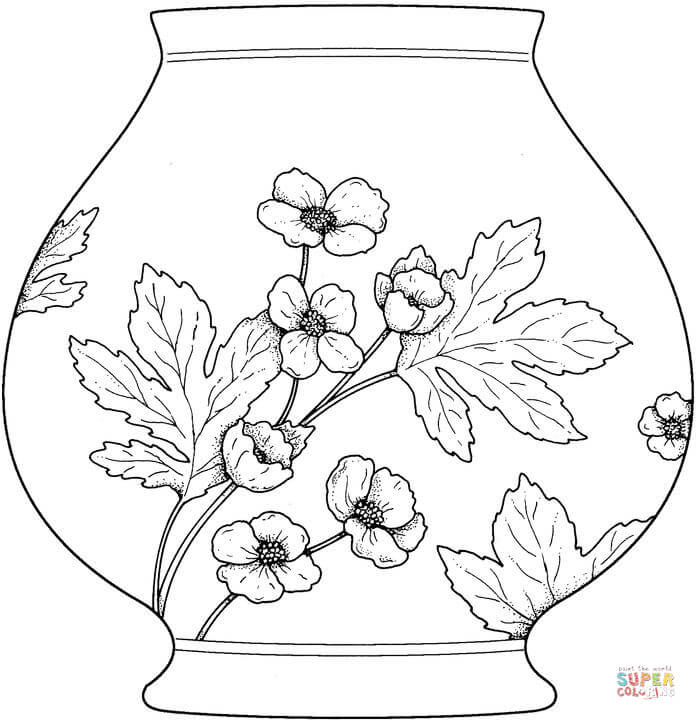 696x720 Vase Coloring Page Free Printable Coloring Pages