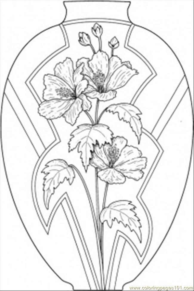 650x972 Flower Page Printable Coloring Sheets Coloring Pages Vase Wild