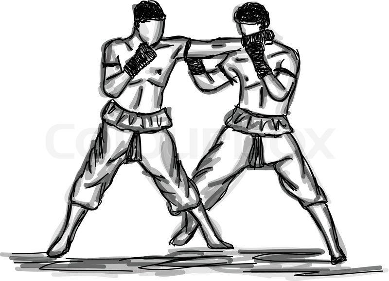 800x579 Vector Thai Boxing Collection Muay Thai Martial Art Popular