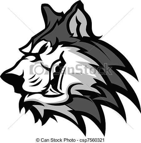 450x456 Husky Mascot Vector Graphic. Husky Dog Head Graphic Team Vector