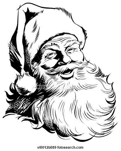 416x520 Clip Art Of Santa Claus Vl0012b089