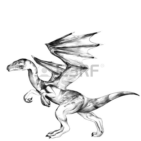 450x450 Dragon Head With Horns Sketch Vector Graphics Black And White
