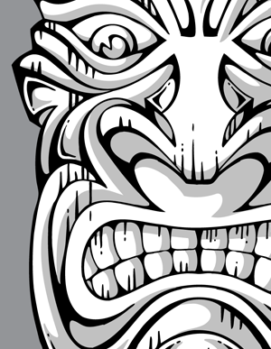 300x387 Tribal Tiki Vector Graphics Vector Genius