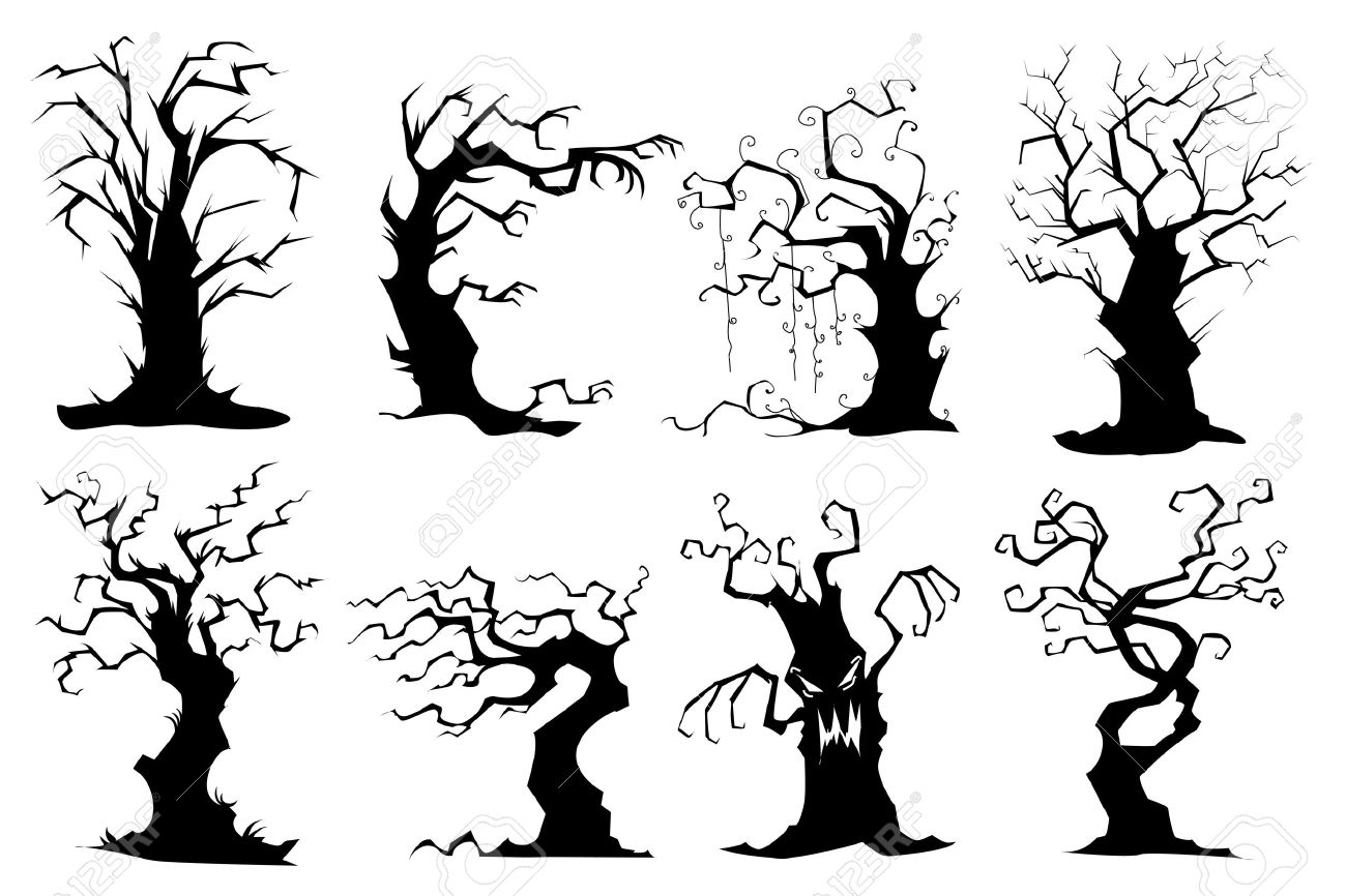 1300x866 Spooky Tree Clipart Group