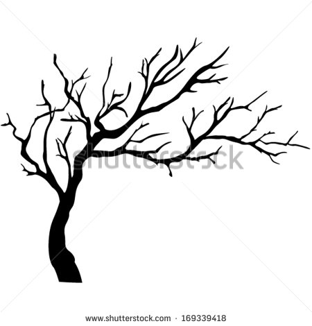 450x470 Tree Isolated Sketches And Script Stenciling