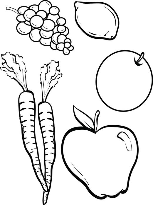 521x700 Fruit And Vegetable Coloring Pages Free Printable Fruits