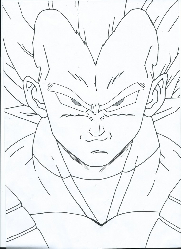 Unisex Clipart At Free For Personal Use Undangan Costum Skecth Face Vegeta Drawing