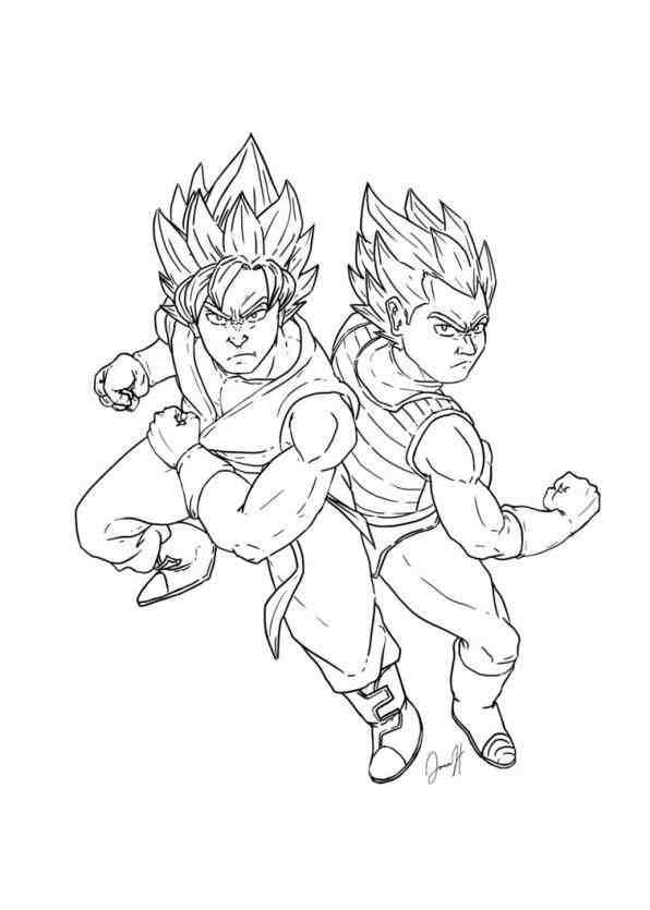 596x835 Goku And Vegeta Ssgss Drawing Drinkeats.club