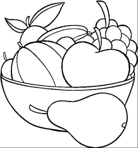 450x483 Coloring Pages Of Fruits And Vegetables Fruits Coloring Pages
