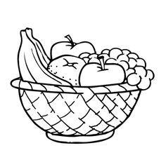 236x231 Fruit Bowl Drawing For Kids Applique Digital Image