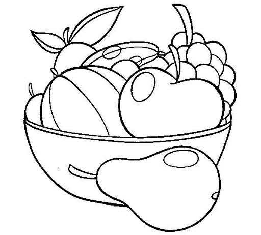 Vegetables And Fruits Drawing