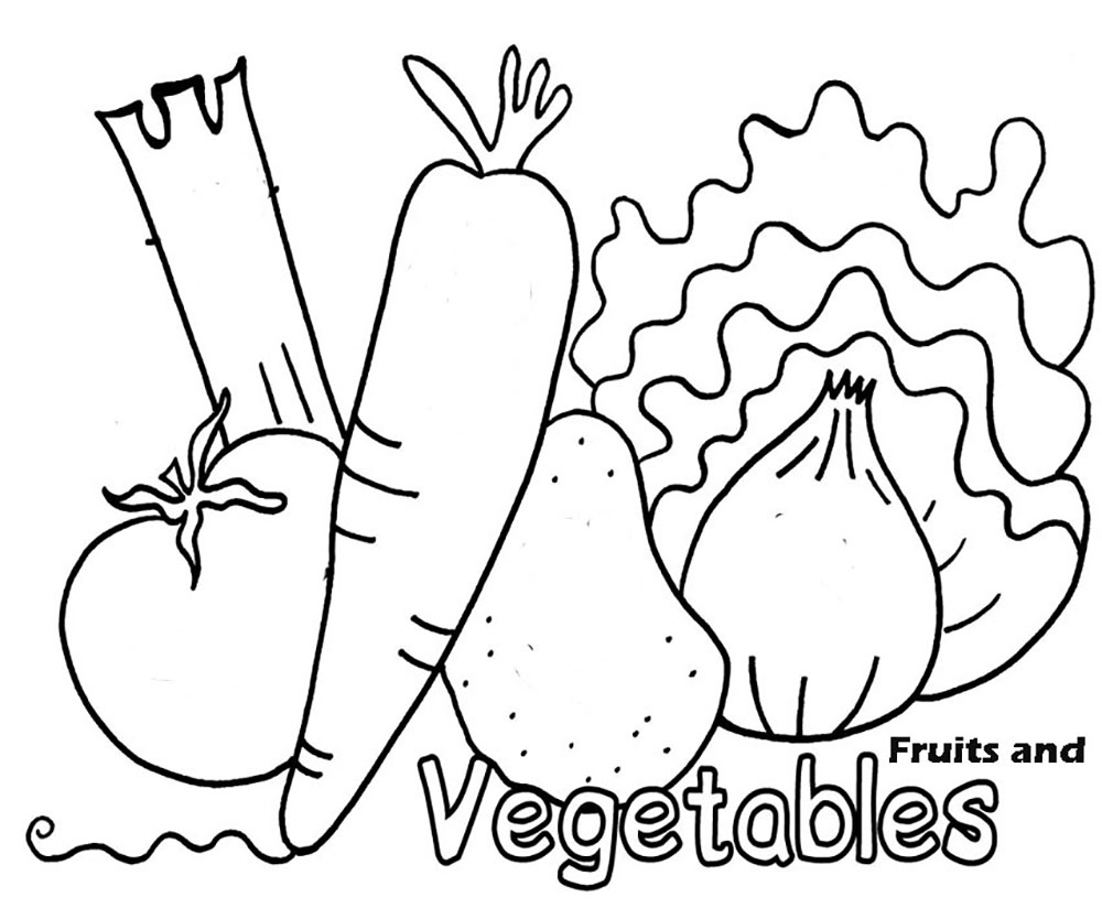 1000x824 Vegetable And Fruit Coloring Pages Pinterest Kids Net
