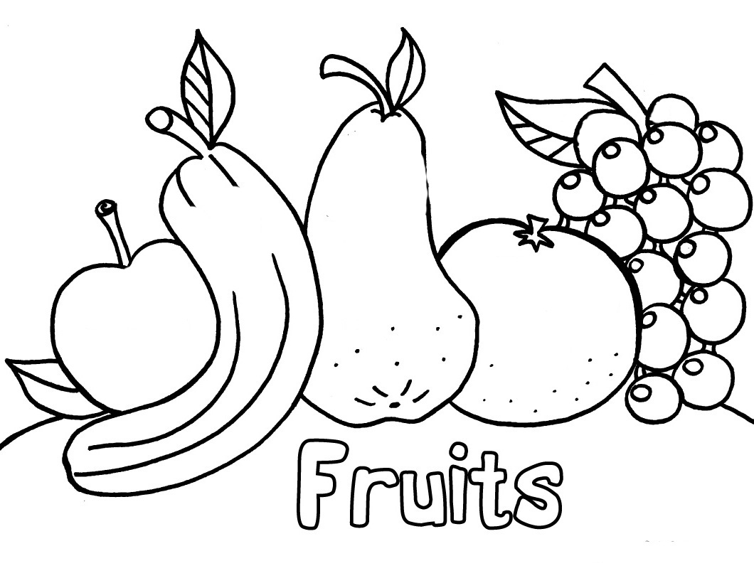 1060x820 Vegetables And Fruits Coloring Pages Of Fresh Fruit