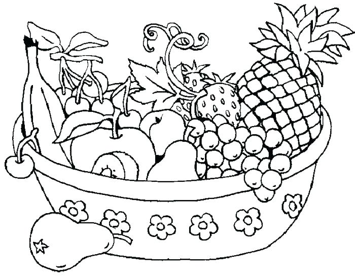 700x551 Fruit Color Pages Fruit Vegetable Coloring Sheets Fruits