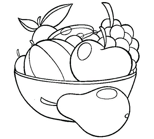 512x462 Fruit Basket Coloring Pages