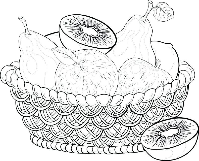 Vegetables Basket Drawing At Getdrawings Com Free For