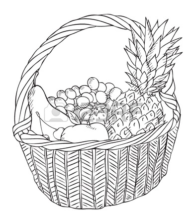 392x450 Basket With Different Vegetables Royalty Free Cliparts, Vectors