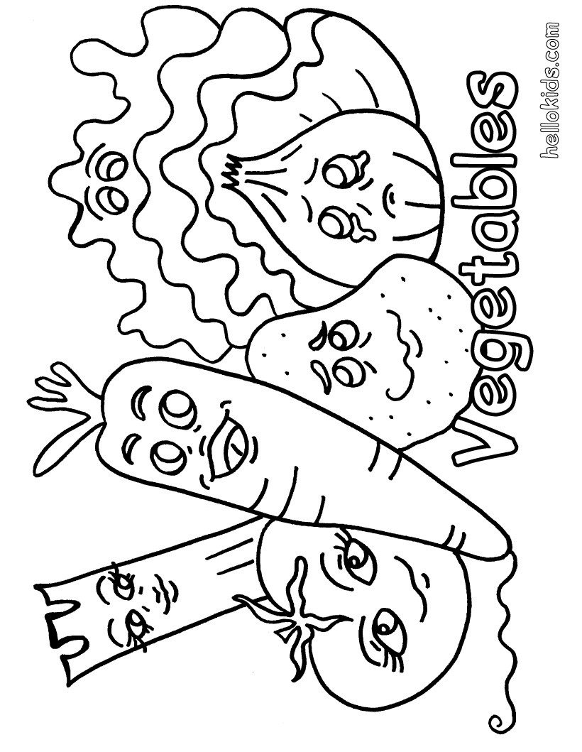 820x1059 Vegetable Coloring Pages