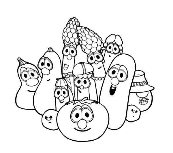 Veggie Tales Drawing at GetDrawings   Free download