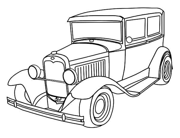 600x463 Deluxe Classic Car Coloring Pages