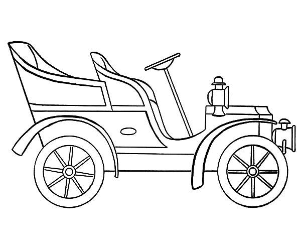 600x490 Model T Car, Model T Car Outline Coloring Pages Model T Car