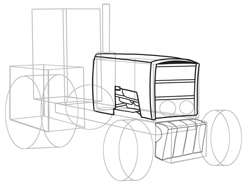 850x642 How To Draw Vehicles Tractors