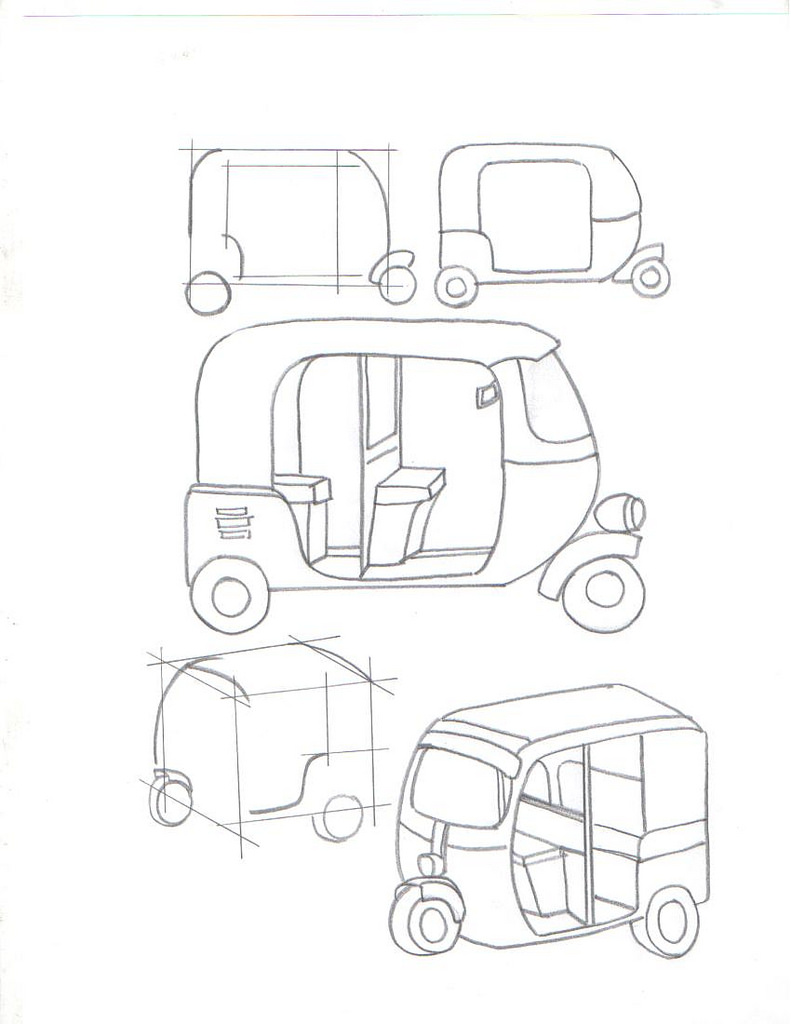 791x1024 Learn To Draw Vehicles Question Of The Day Draw An Auto
