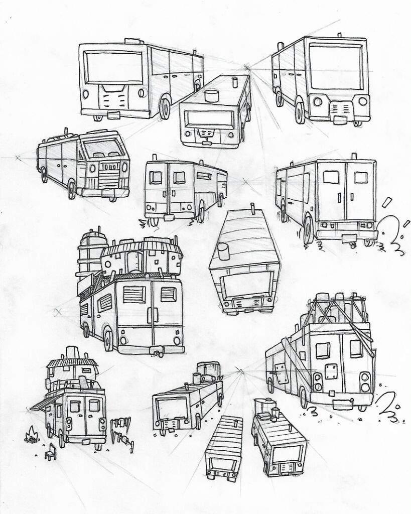 819x1024 Vehicle Studies Art Amino