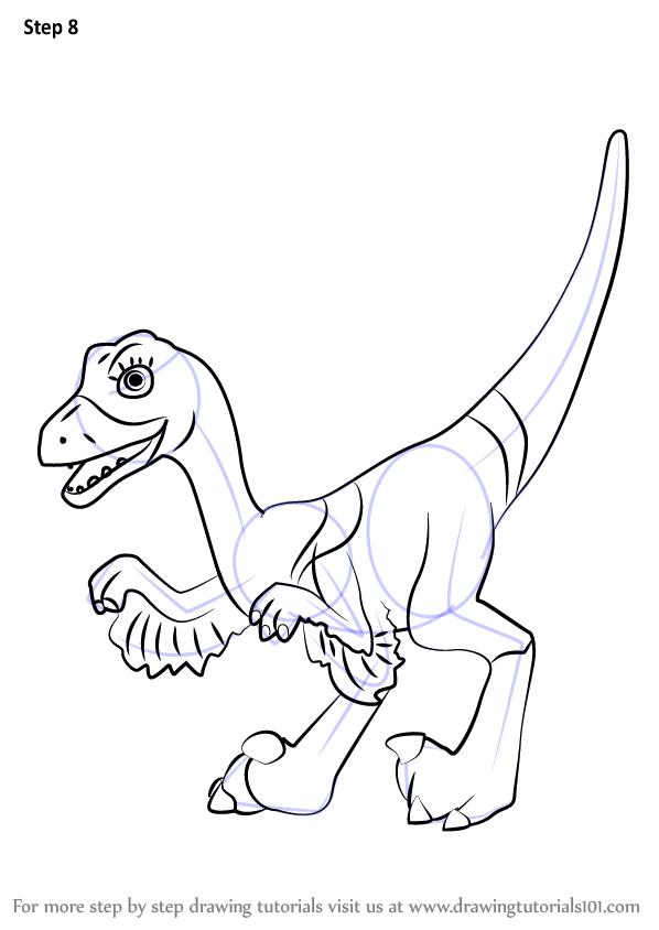 598x844 Learn How To Draw Velma Velociraptor From Dinosaur Train (Dinosaur
